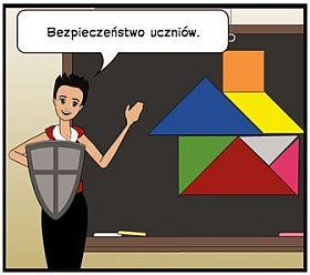 obrazek z napisem: bezpieczeństwo uczniów