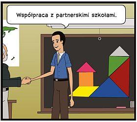 obrazek z napisem: współpraca z partnerskimi szkołami