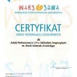 certyfikat wars i sawa 2015