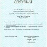 certyfikat lepsza szkoła 2014/2015