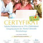 certyfikat szkoła bez przemocy