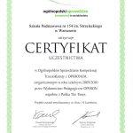 certyfikat uczestnictwa w ogólnopolskim sprawdzianie trzecioklasisty operon