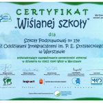 certyfikat wiślanej szkoły 2013