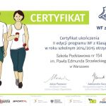 certyfikat wf z klasą 2014/2015