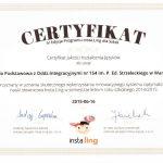certyfikat jakości kształcenia języków 2015