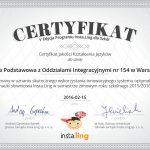 certyfikat jakości kształcenia języków 2016