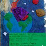 Praca konkursowa z wierszem o pani Basi Rymuszce, miejsce 1
