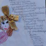 Praca konkursowa z wierszem o pani Małgosi Popławskiej, miejsce 3b