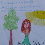 Praca konkursowa z wierszem o pani Joli Kunie, wyróżnienie 1