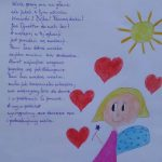Praca konkursowa z wierszem o pani Izie Marcinkowskiej – Obuchowskiej, miejsce 2b