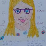 Praca konkursowa z wierszem o pani Małgorzacie Wronie, wyróżnienie