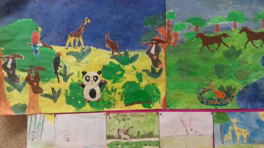 praca plastyczna przedstawiająca zwierzęta