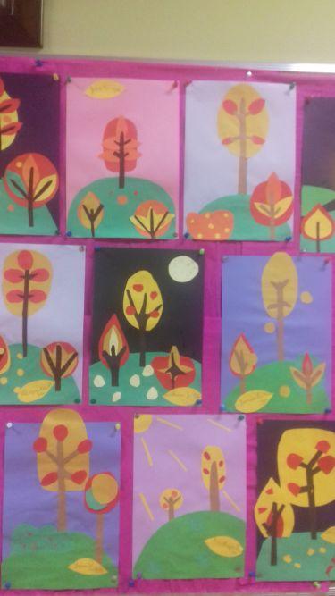 wystawa prac jesienne drzewa