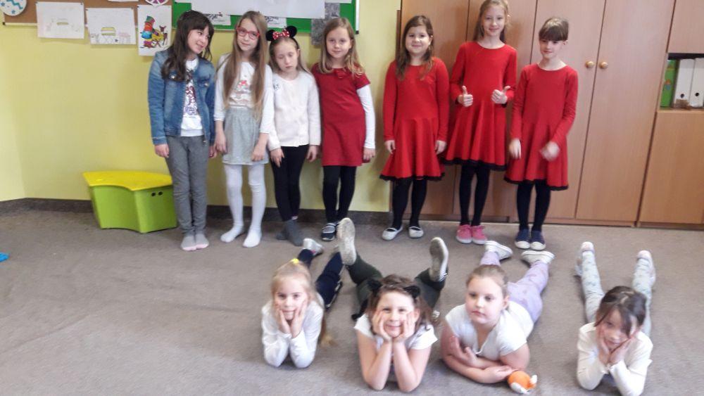 uczestnicy świetlicowego konkursu tanecznego