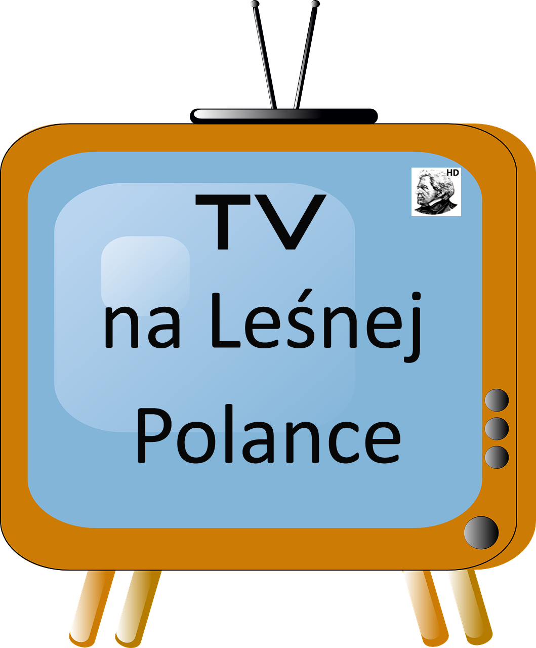 grafika, tv na Leśnej Polance