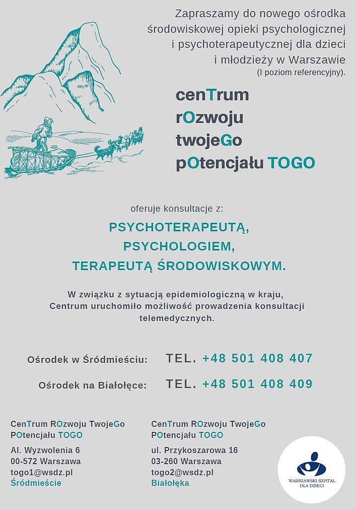 plakat - centrum rozwoju twojego potencjału TOGO