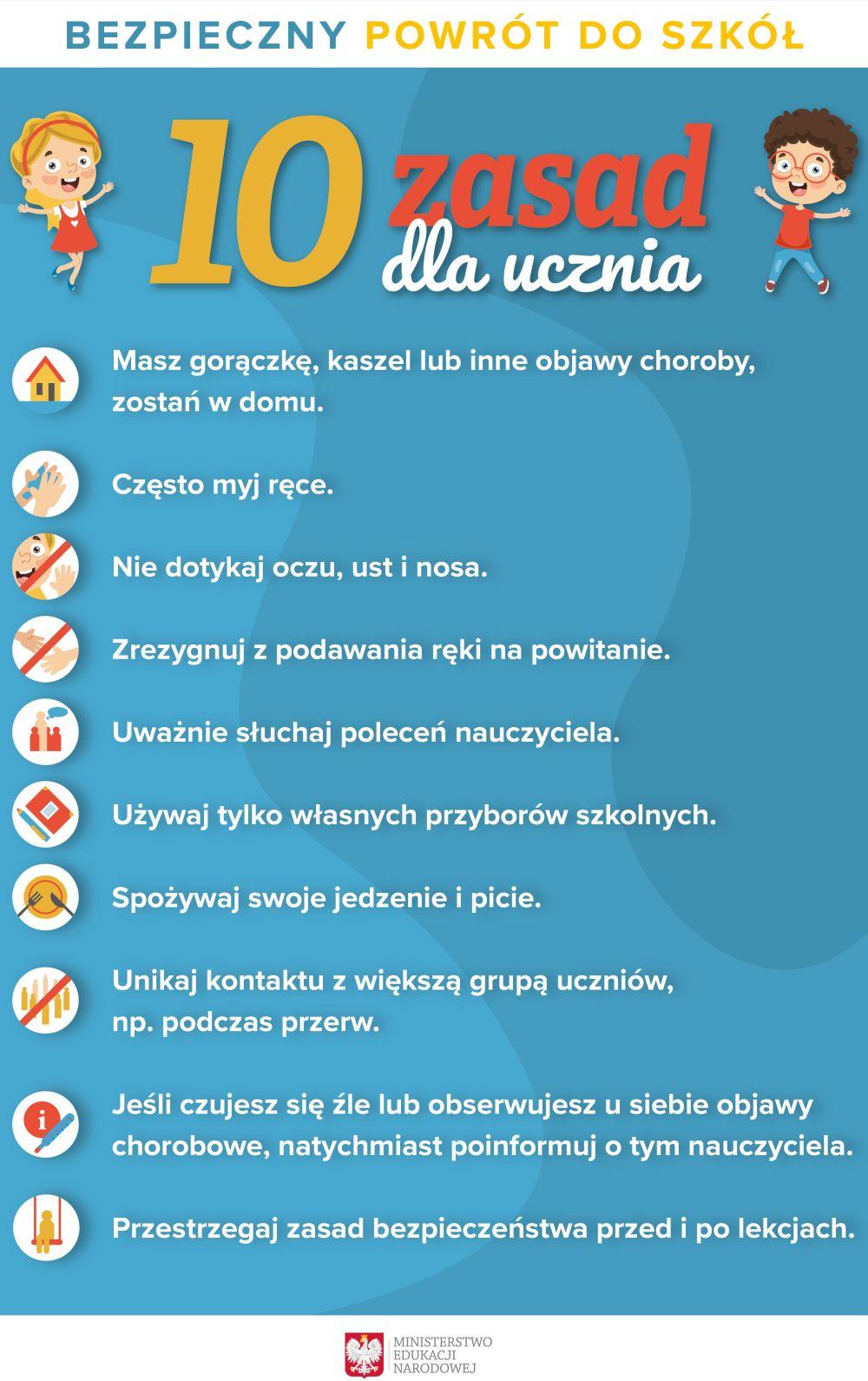 plakat informacyjny dla rodziców