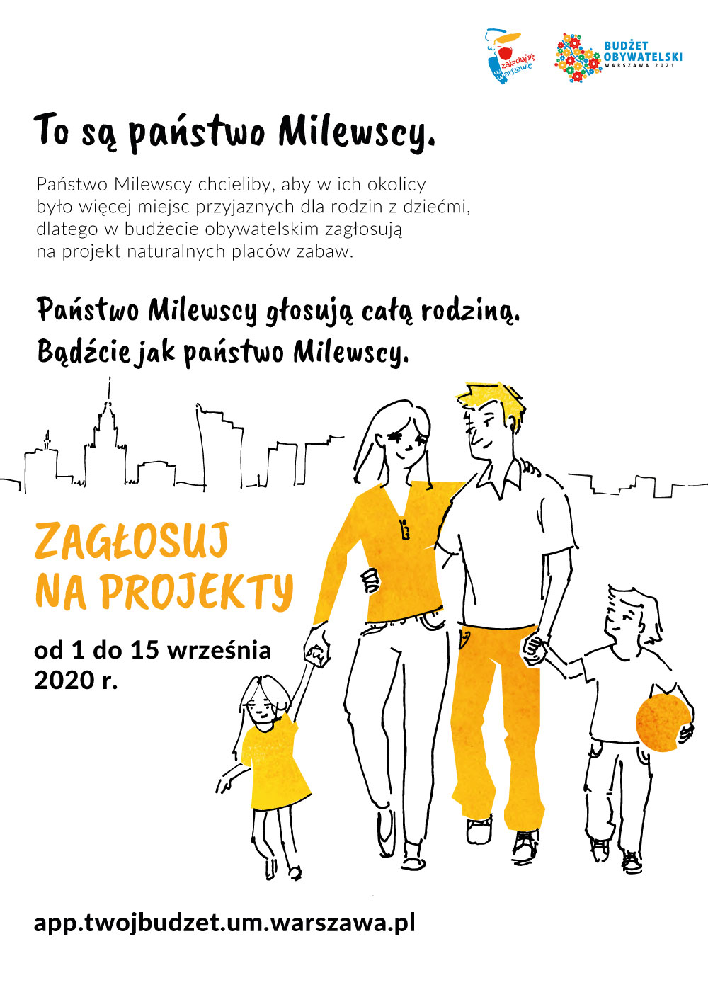 plakat budżet obywatelski Warszawa 2021