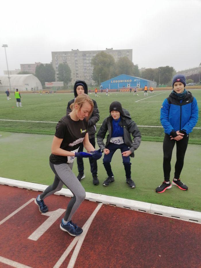 Zuzanna Malarska w trakcie biegu
