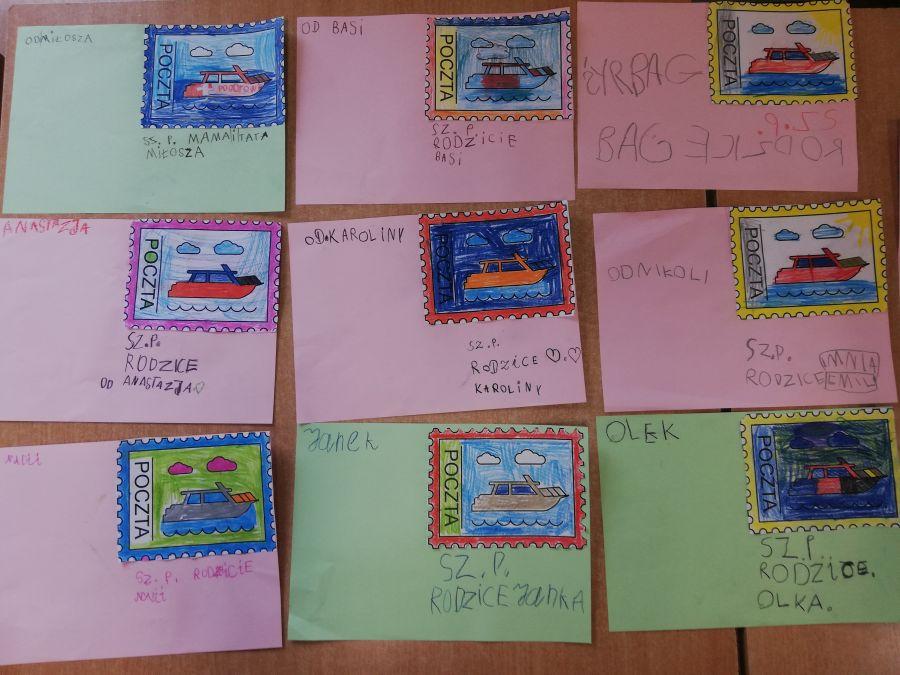 prace dzieci - listy