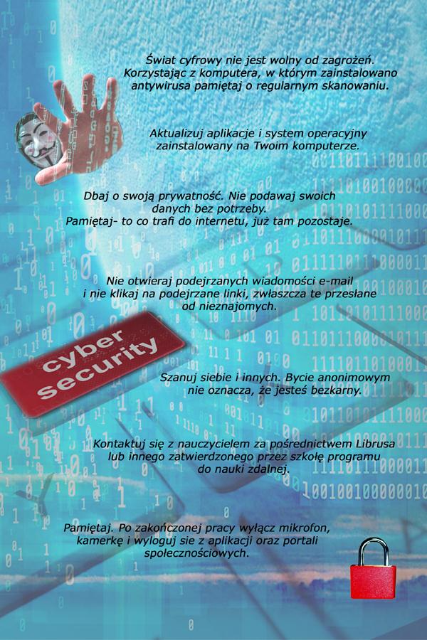 cyberbezpieczeństwo - plakat