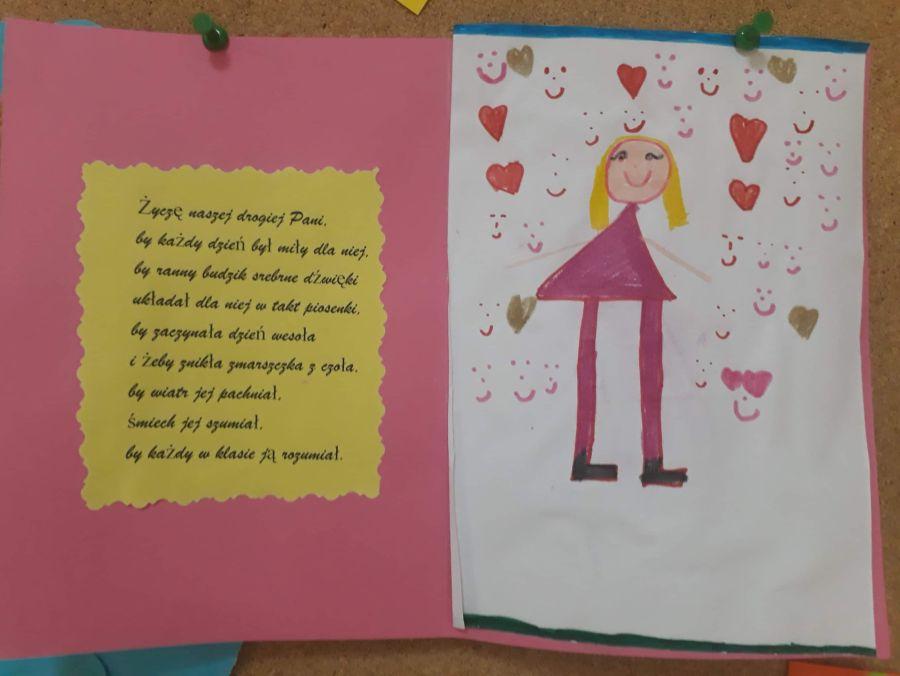 Laurka z życzeniami z okazji Dnia Nauczyciela