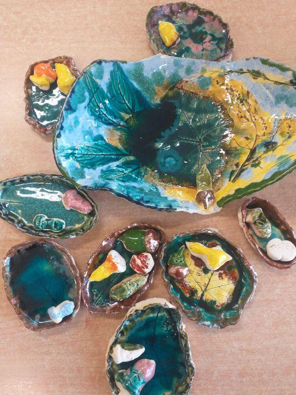 Prace z gliny wykonane przez dzieci