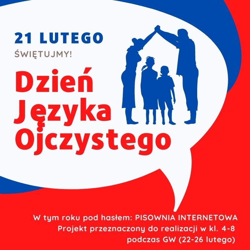 plakat, dzień języka ojczystego, 21 lutego 2021 roku