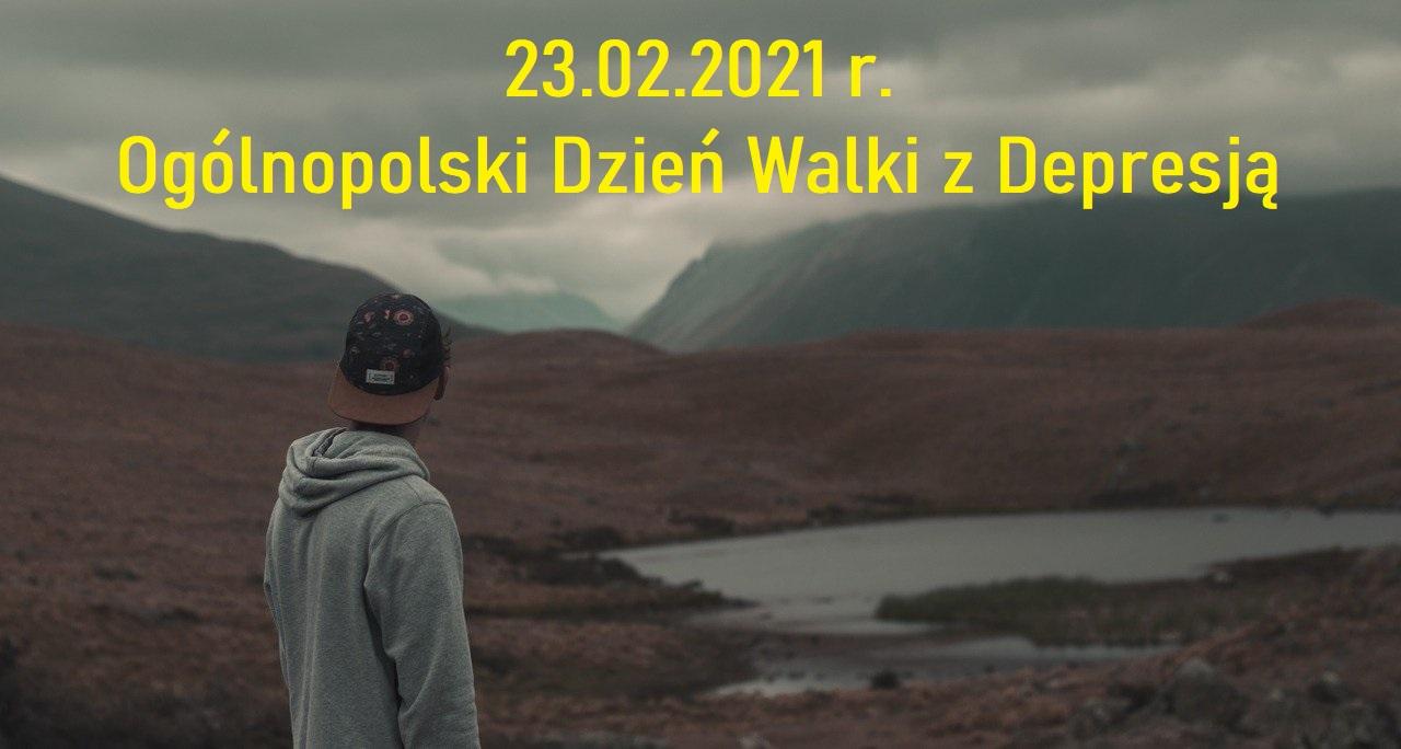 plakat-ogólnopolski dzień walki z depresją, 23.02.2021