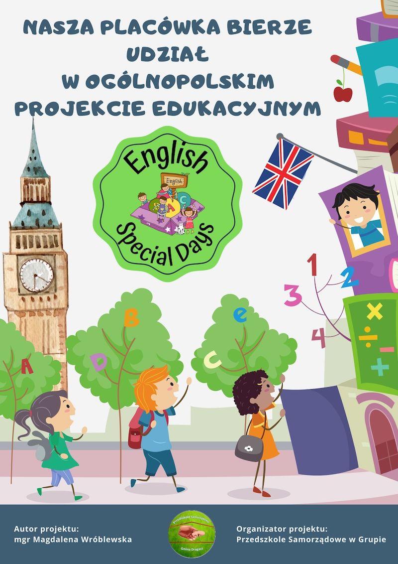 plakat projekt językowy English Special Days