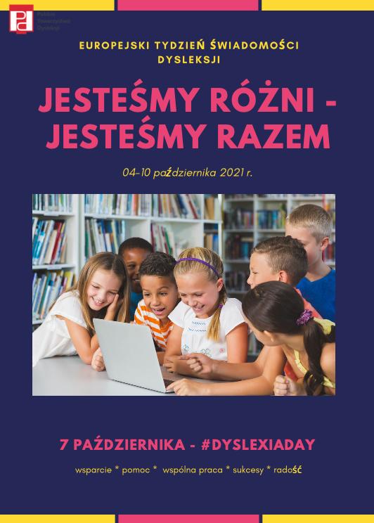 plakat - tydzień dysleksji